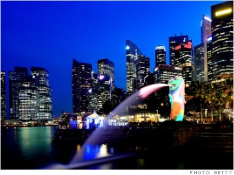 most expensive places expats singapore