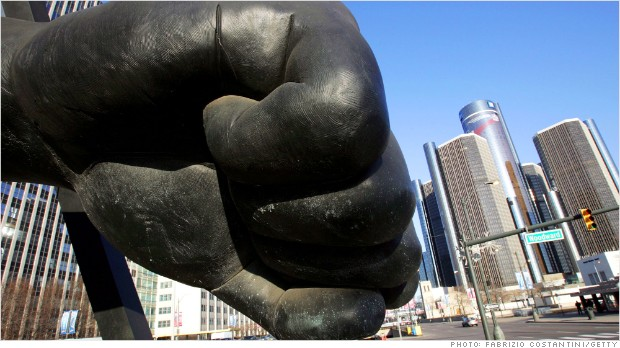 detroit sculpture fist