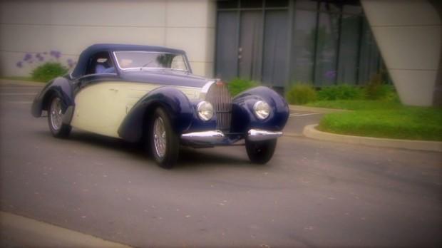 Driving an ultra-rare classic Bugatti