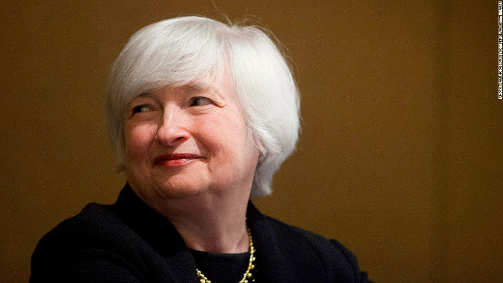 janet yellen cnnmoney econ survey