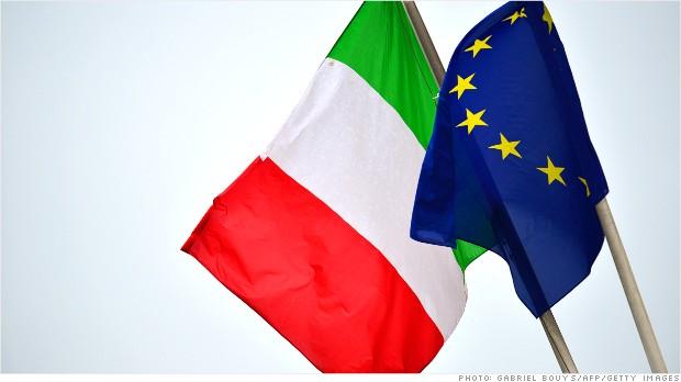 italy economy flags