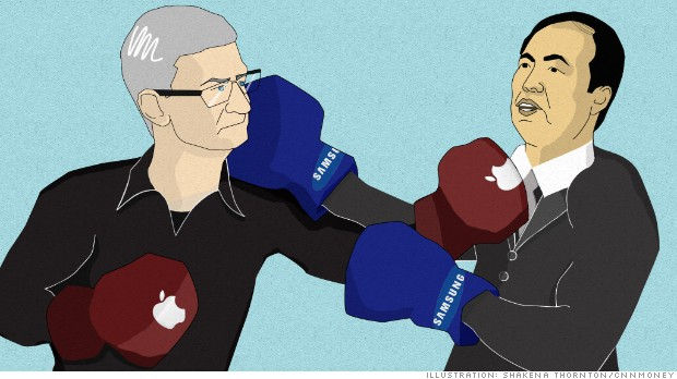 apple vs samsung fight