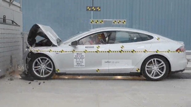 Watch the Tesla Model S crash tests