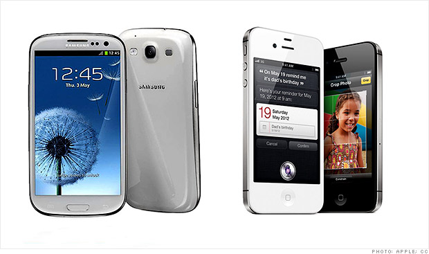 samsung 3 vs iphone 4