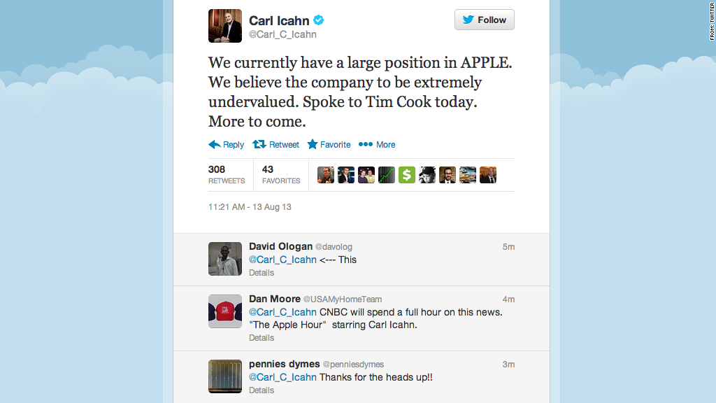 carl icahn twitter apple