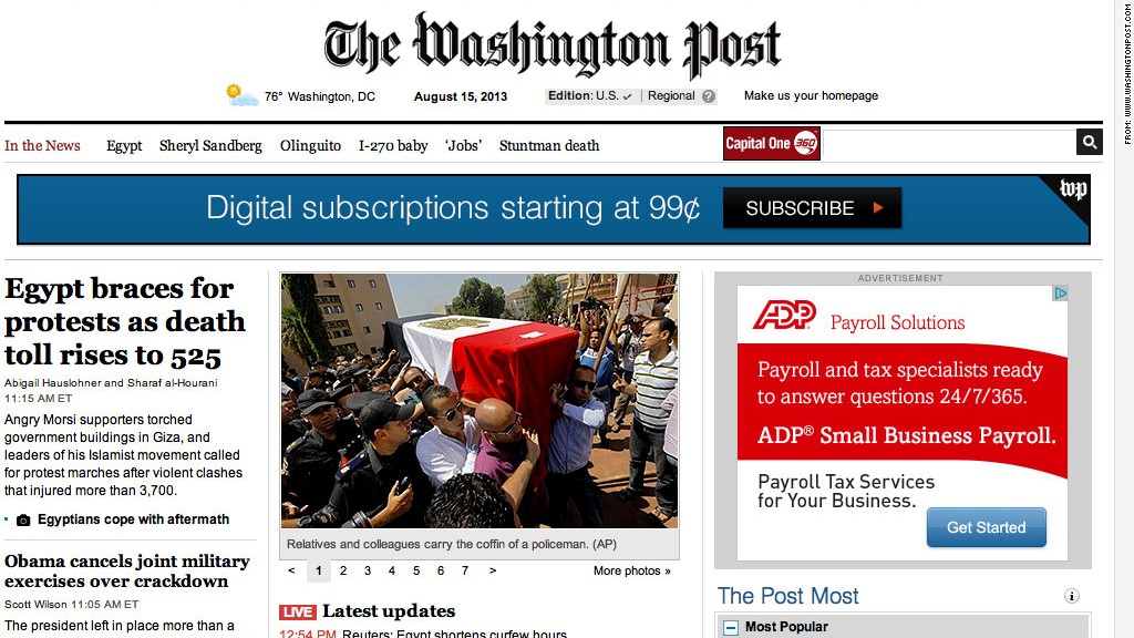 washington post hacked