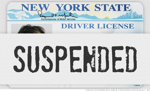 ny state taxes license suspended