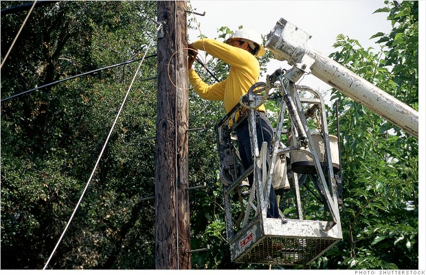 most dangerous jobs linemen