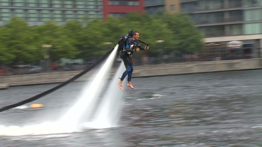 Water jetpack put to test