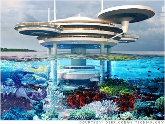 Dubai water discus hotel 6 stunning undersea hotels for World biggest hotel in dubai