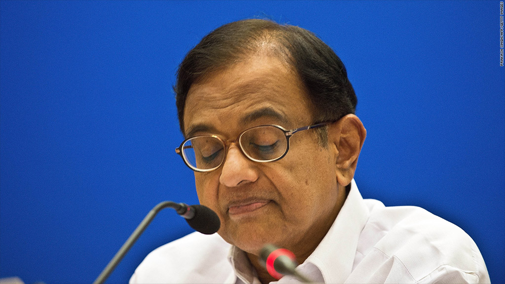 shri chidambaram india finance minister
