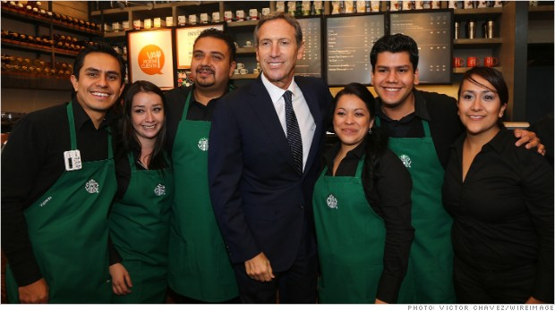 howard schultz employees