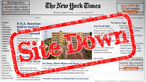Un ataque informático deja al The New York Times sin servicio