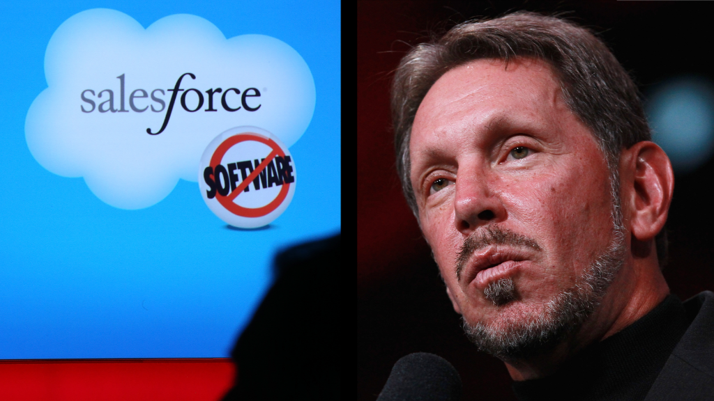 Salesforce soars, but Ellison still wins