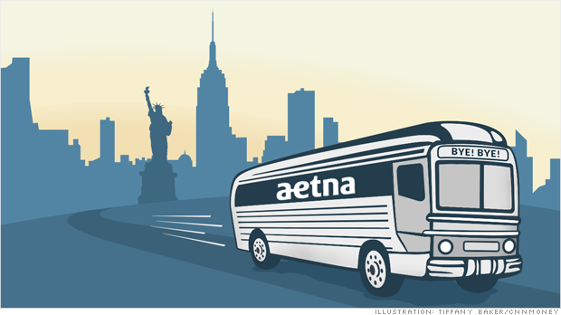 aetna leaves new york