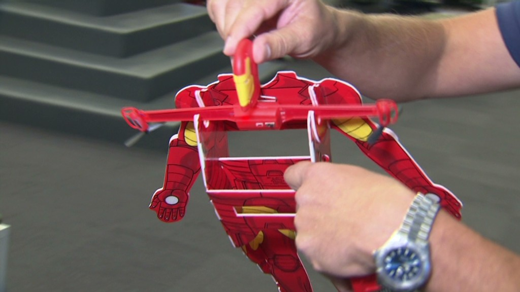 How the miniature Iron Man flies