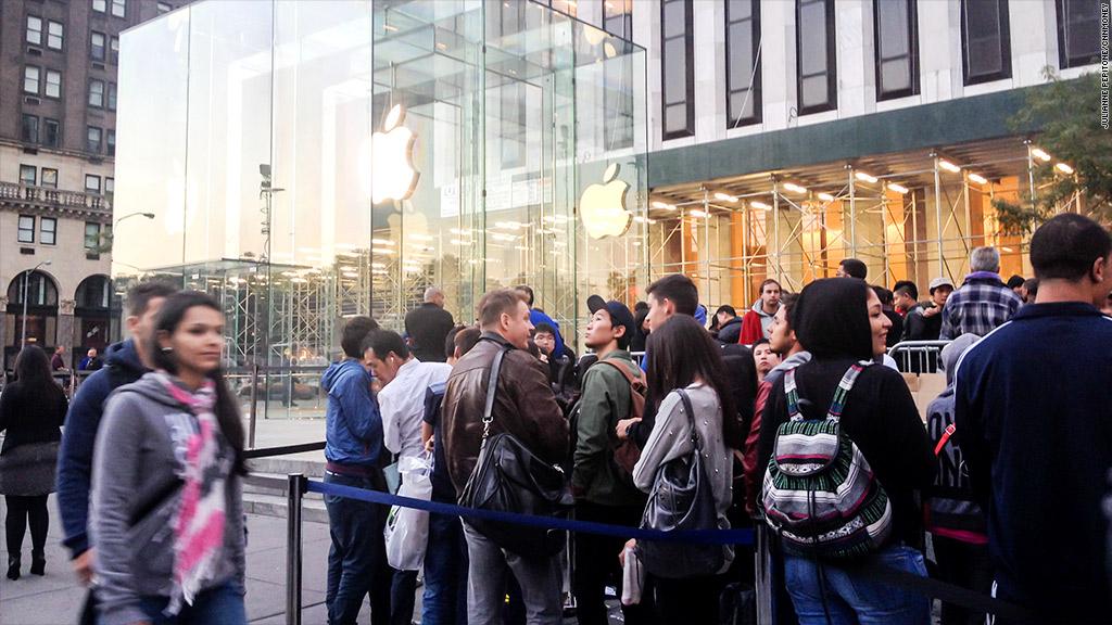 apple iphone line nyc
