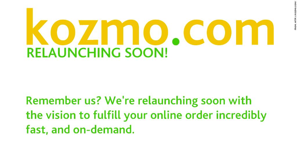 kozmo.com relaunch