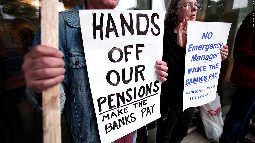 detroit pension protest