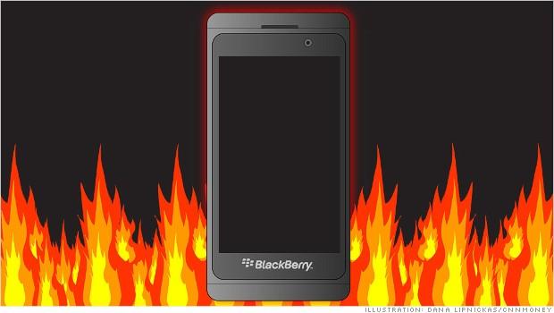 blackberry earnings fire