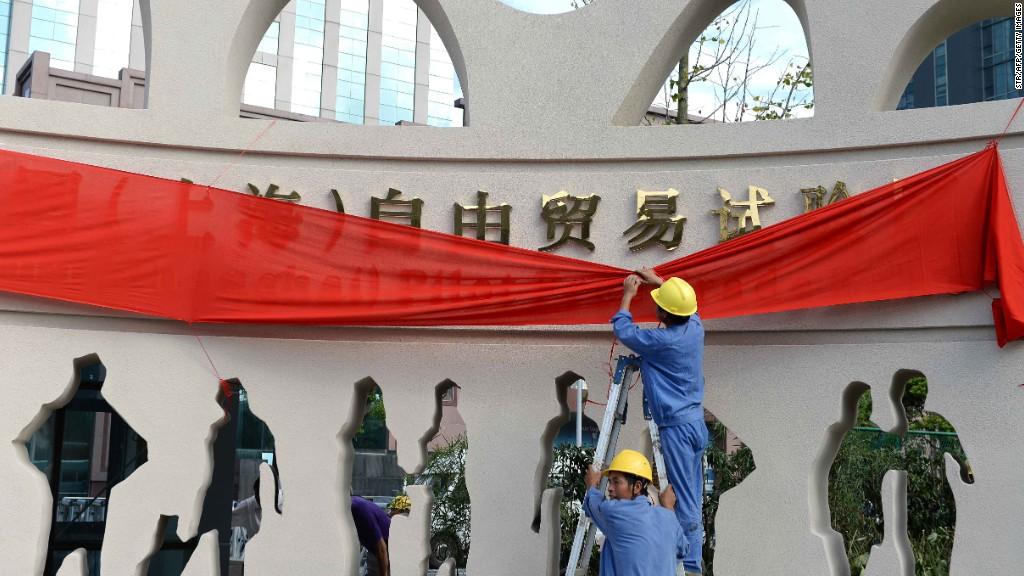 shanghai free trade opens