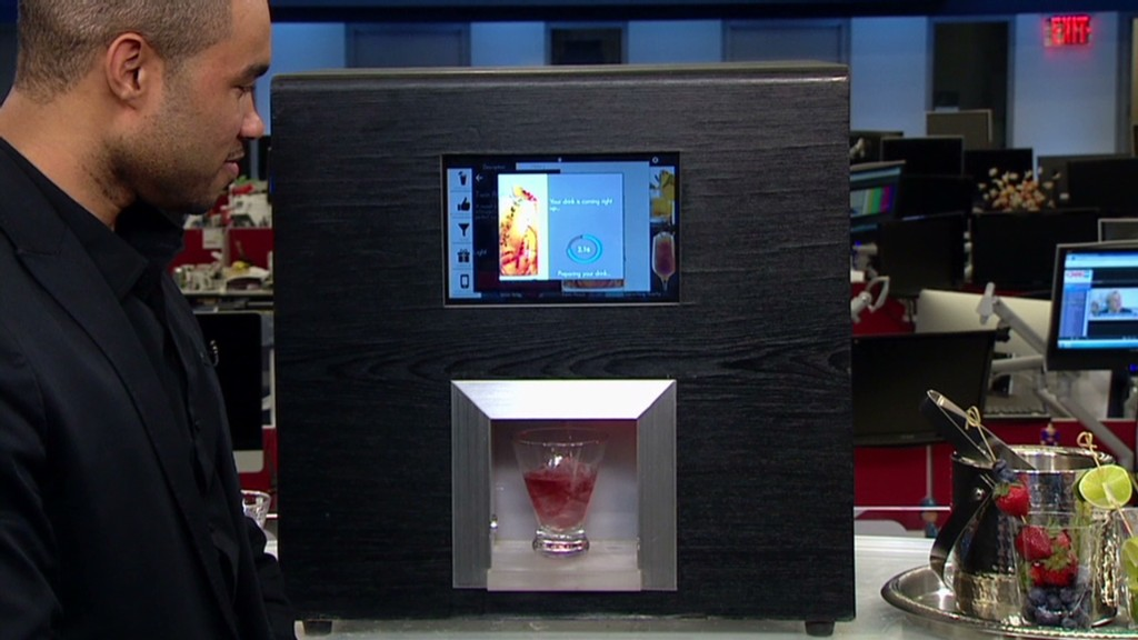 Robot bartender mixes it up