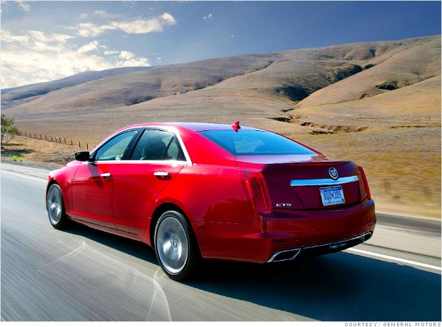 cadillac cts open highway
