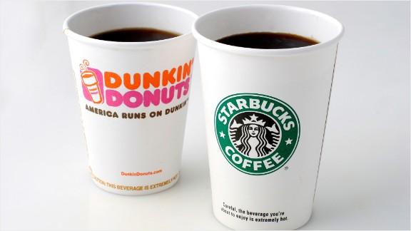 Coffee wars! Wall Street runs on Dunkin', not Starbucks