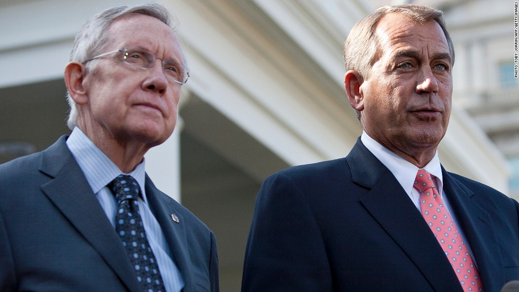 harry reid john boehner government shutdown