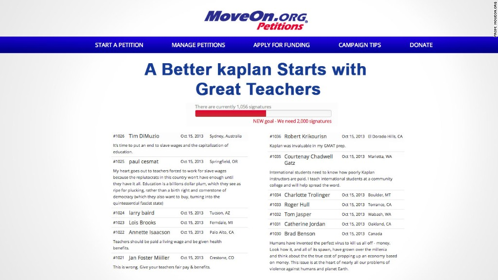 kaplan teachers