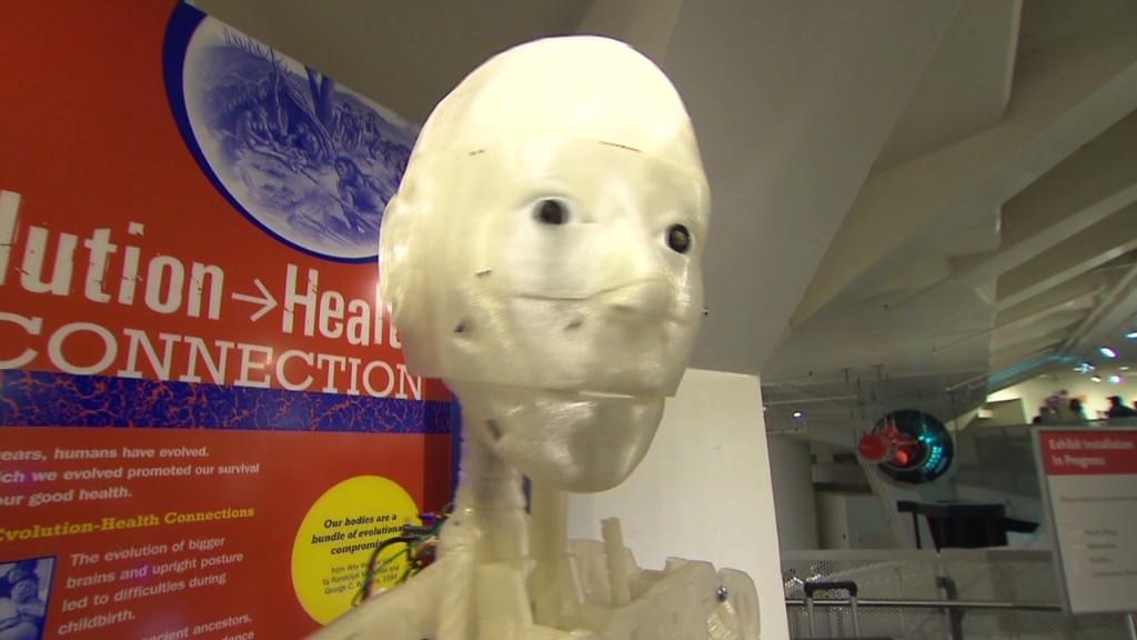 Printing a 3D robot