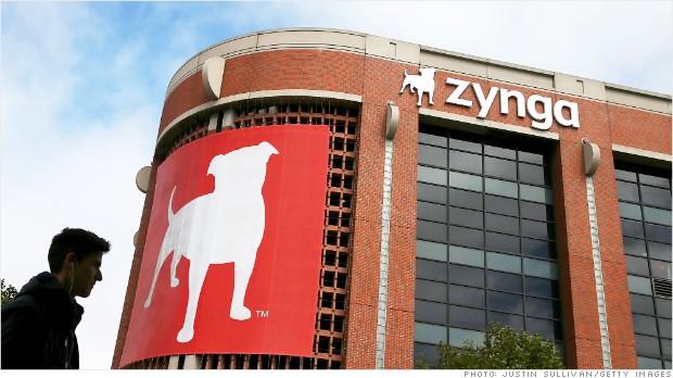 zynga shares rise