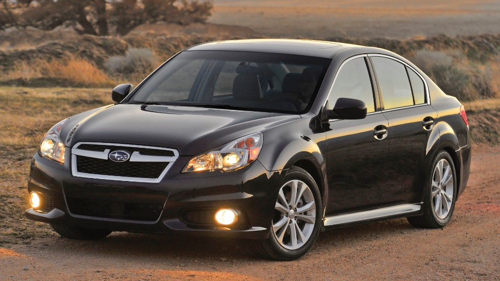 mid sized car subaru legacy consumer reports most reliable cars cnnmoney. Black Bedroom Furniture Sets. Home Design Ideas