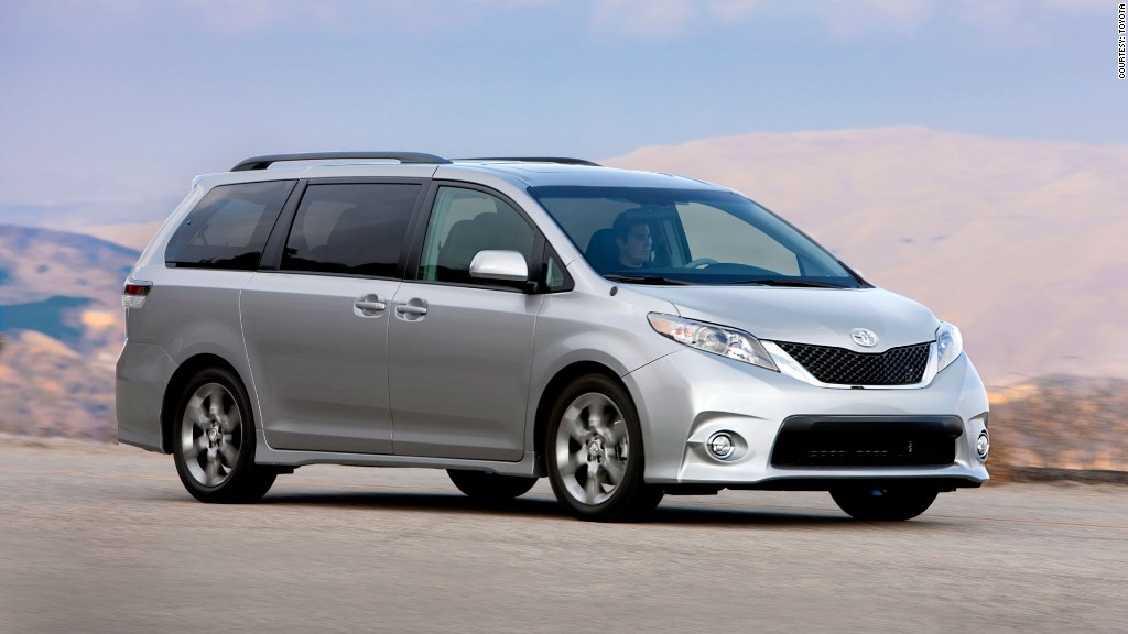 minivan toyota sienna fwd consumer reports most reliable cars cnnmoney. Black Bedroom Furniture Sets. Home Design Ideas