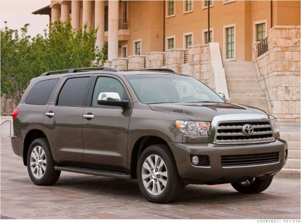 Large Suv Toyota Sequoia Consumer Reports Most