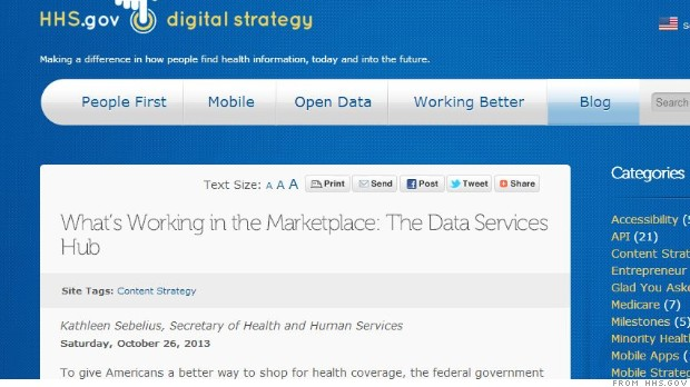 Obamacare 'hub' back online after malfunction