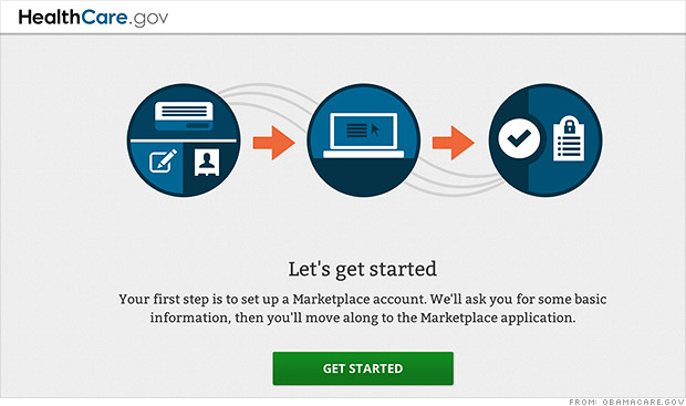 obamacare website back