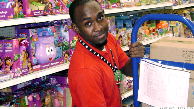 The temporary holiday worker for Toys R Us - Nov. 6, 2013