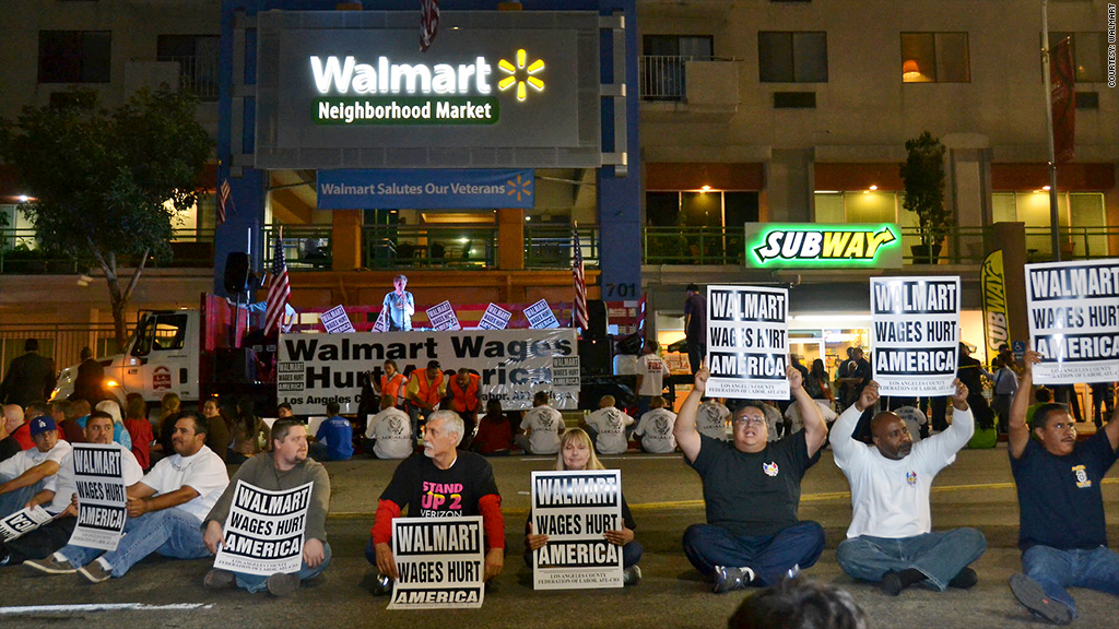 walmart wages protests