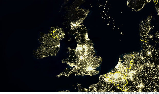 uk satellite night