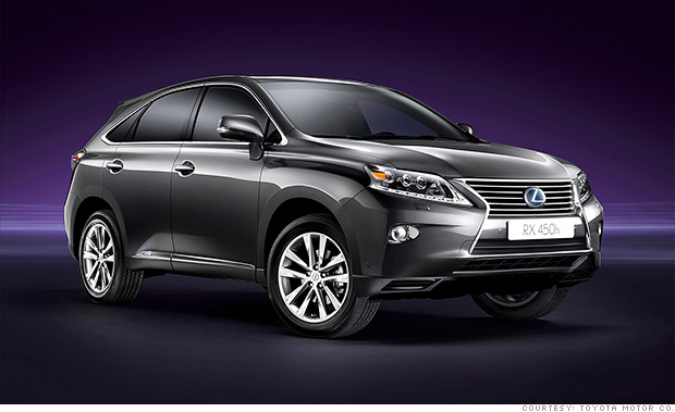 hybrid suv lexus rx 450h best resale value cars cnnmoney. Black Bedroom Furniture Sets. Home Design Ideas