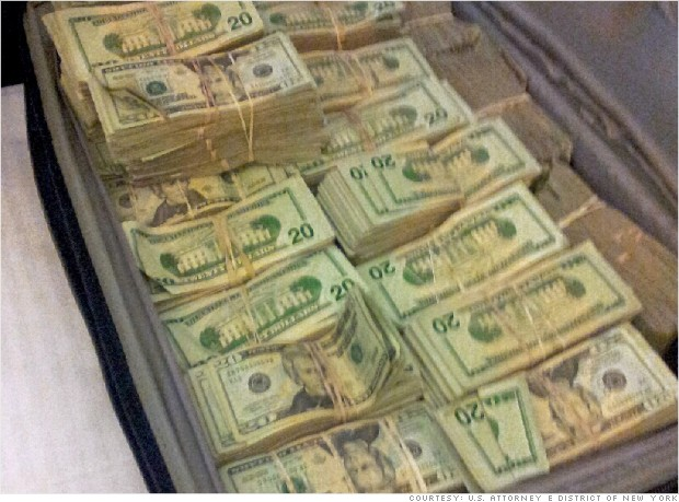 cybercrime money suitcase