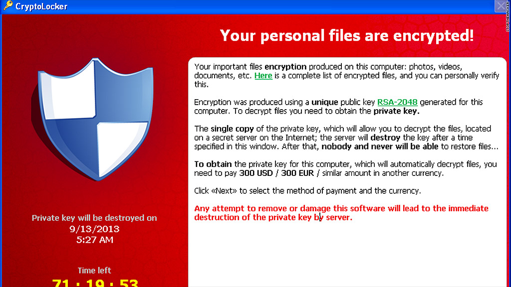 cyber attacks cryptolocker