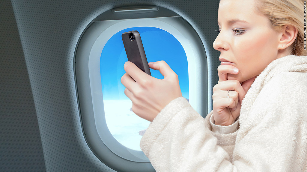 airplane smartphone