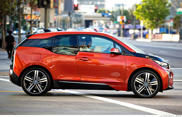 electric cars bmw i3 side
