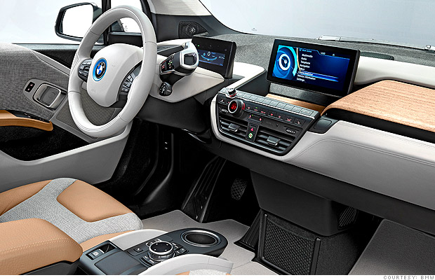 inside the bmw bmw mercedes take different roads on electric cars cnnmoney. Black Bedroom Furniture Sets. Home Design Ideas