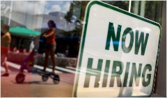 U.S. private sector hiring strongest in a year