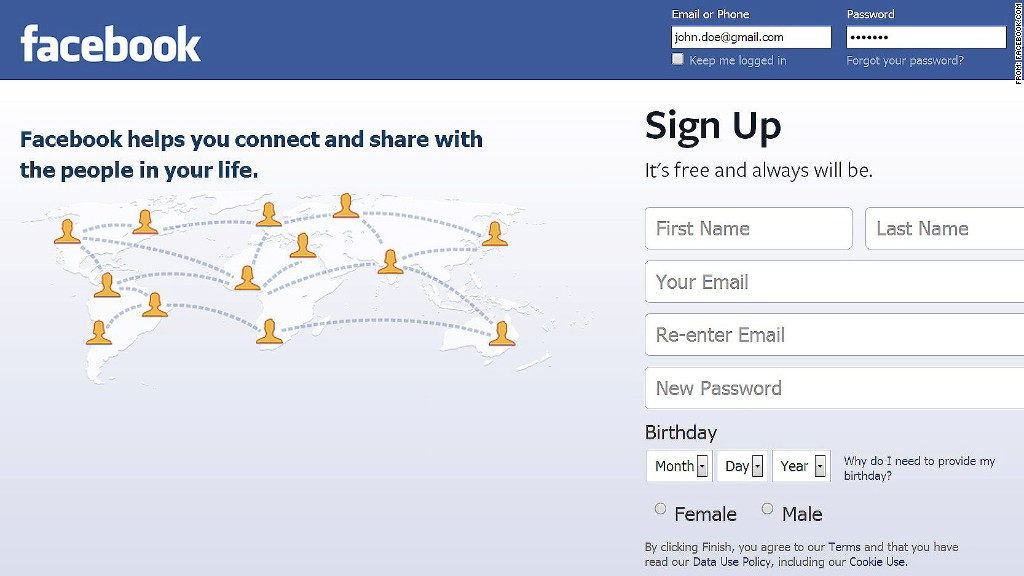 facebook password