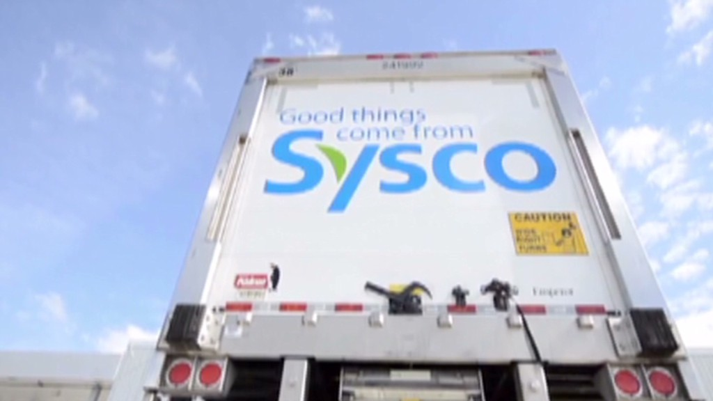 Hungry investors eat up Sysco. Not Cisco.