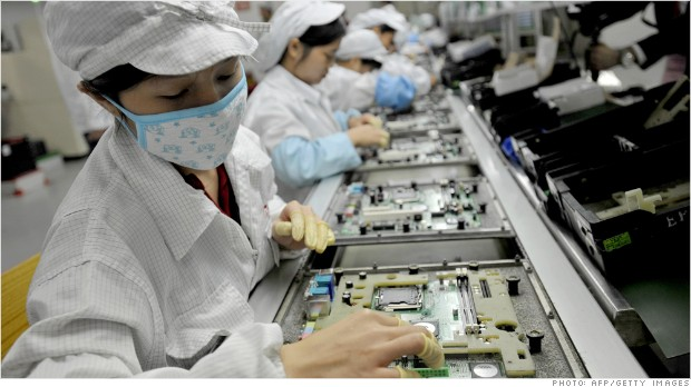 Foxconn's worker hours still excessive